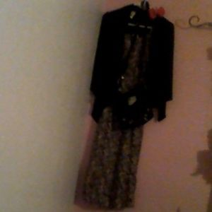 Tank Top Flower Dress With Sweater ,Bow, Purse!